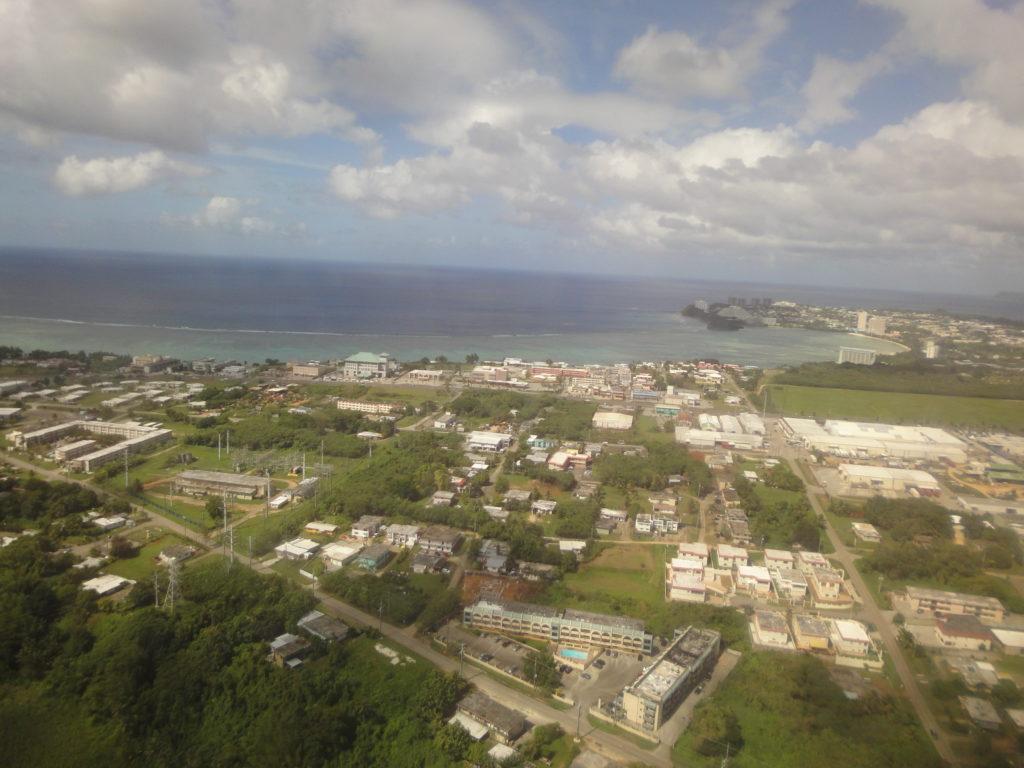 グアム上空からの写真