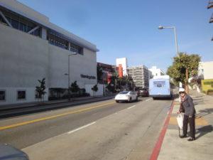 サンタモニカのバス停
