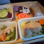 ロサンゼルスから成田の機内食