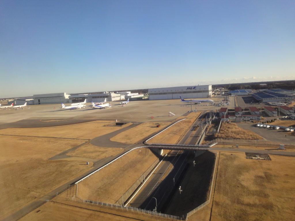 機内から見える成田空港