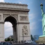 パリの凱旋門とニューヨークの自由の女神